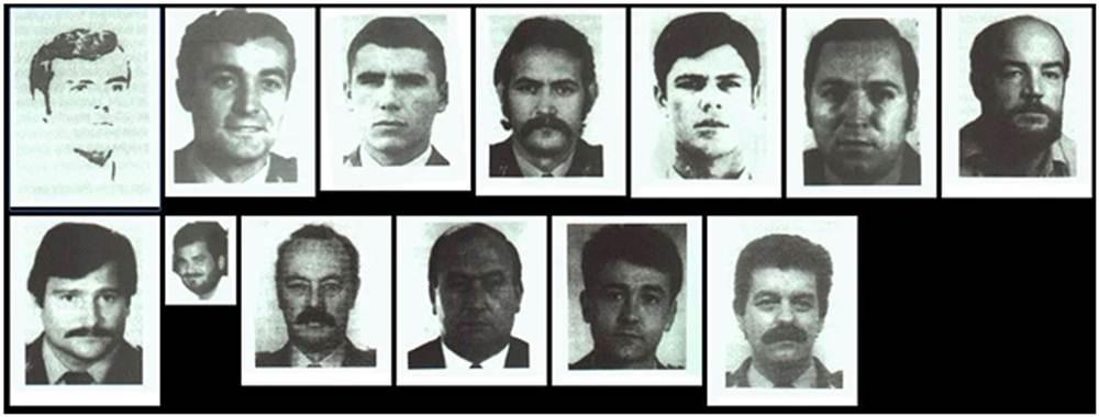 Los 13 agentes que fallecieron en acto de servicio entre 1978 y 1991. http://barbagris-tedax.blogspot.com.es