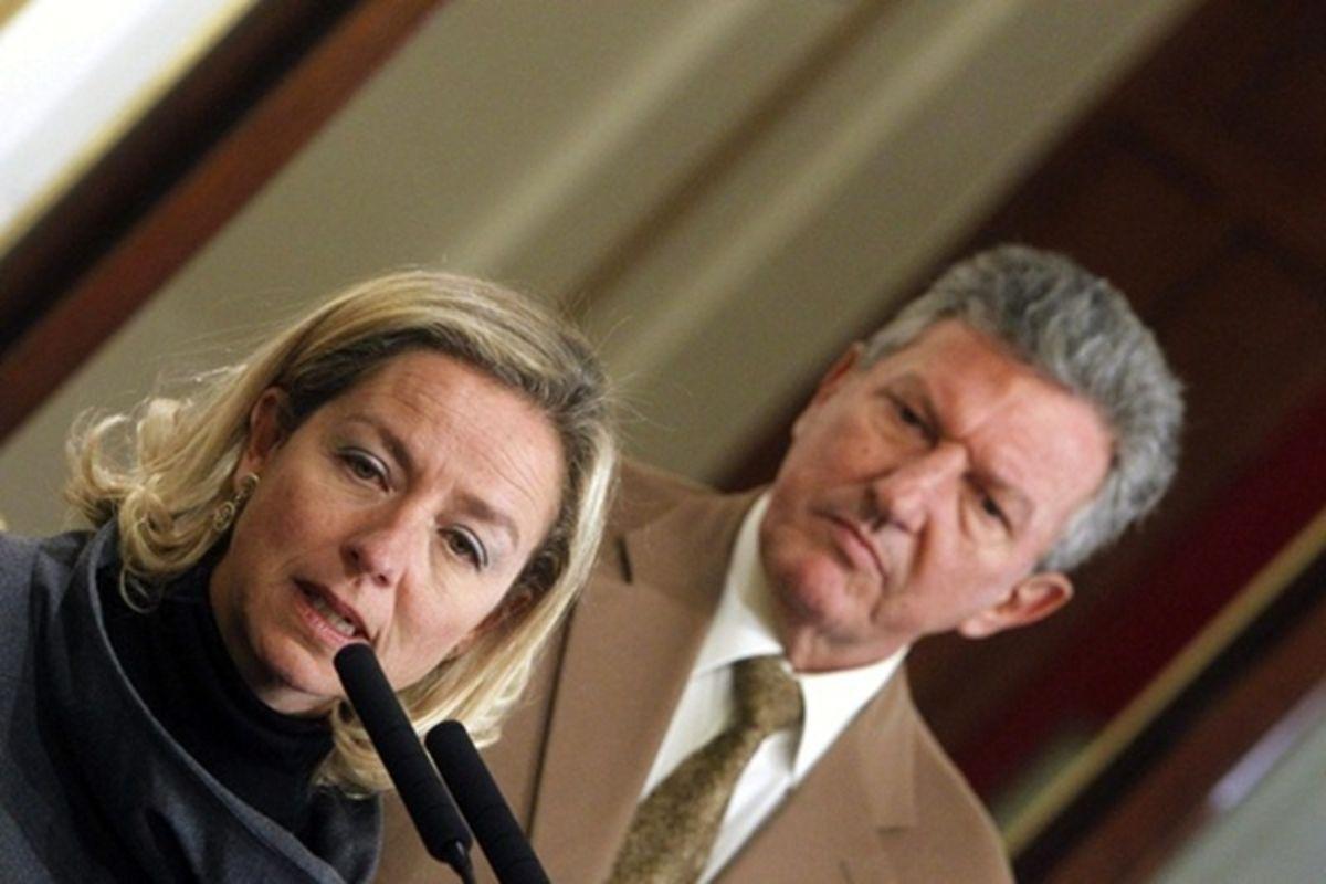 Los diputados de CC y NC, Ana Oramas y Pedro Quevedo, respectivamente. DA