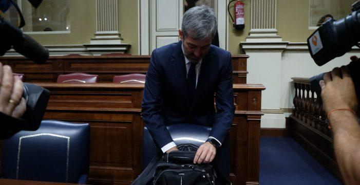 Clavijo, más cerca de la imputación por el caso Grúas, mientras CC vuelve a culpar a Madrid
