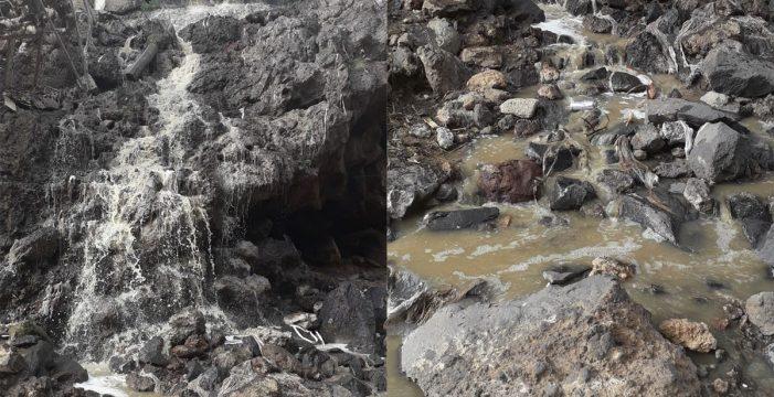 """""""Toallitas y trapos"""" causan un vertido de aguas fecales en Barranco Grande"""