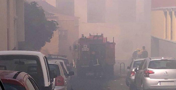 Arde una huerta abandonada en pleno centro de Santa Cruz de La Palma