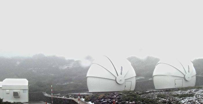 Las cumbres de La Palma ofrecen una estampa gélida