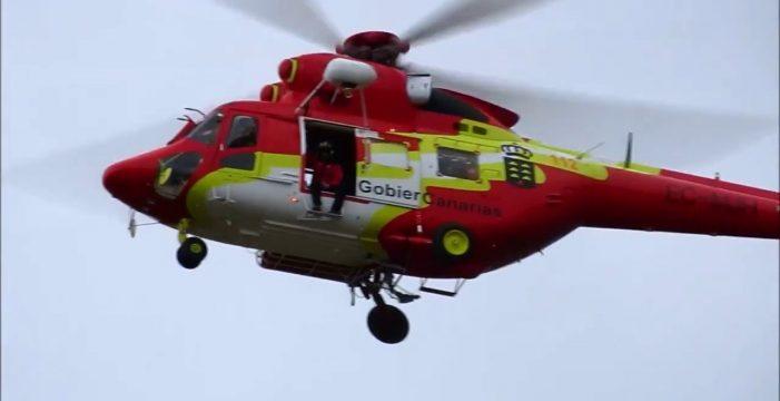 Rescatan a un joven que sufrió una caída de unos tres metros de altura en Fasnia
