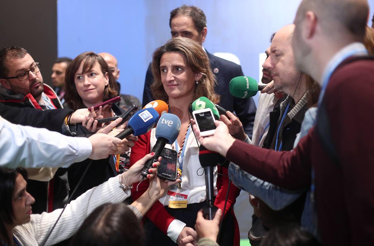 Ribera anunció que el Gobierno tiene la intención de recuperar el anteproyecto de Ley de Cambio Climático. EP