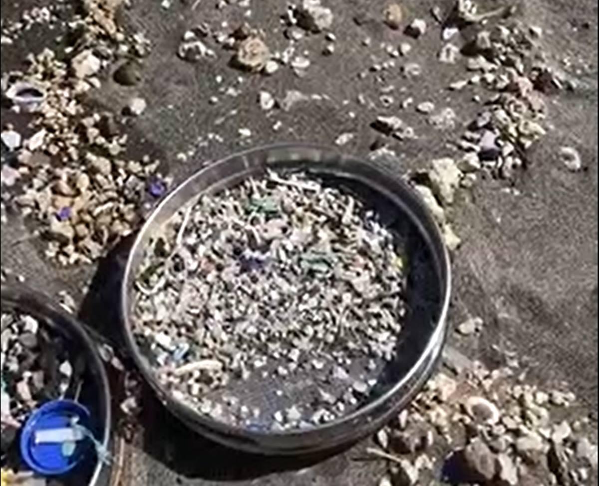Microplásticos en el Porís de Abona. DA