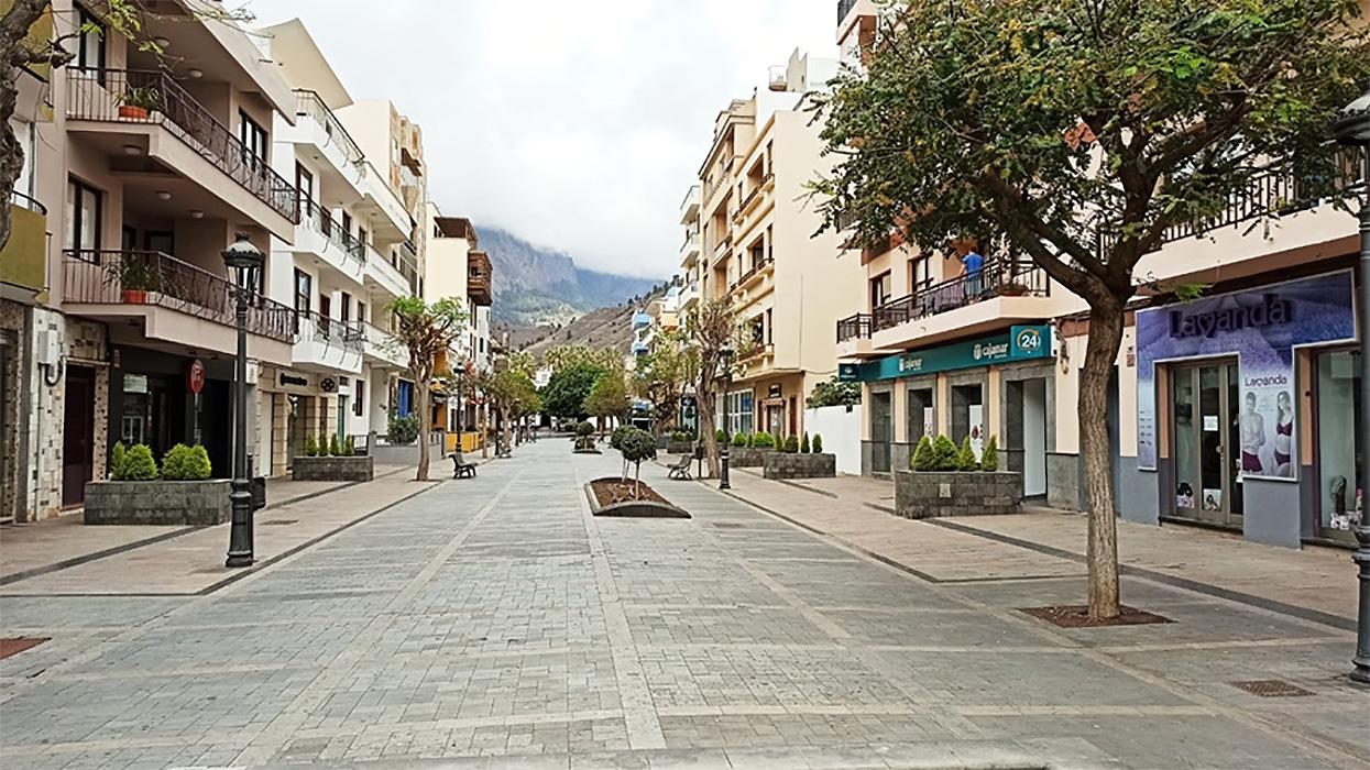 Una de las calles del centro de Los Llanos de Aridane