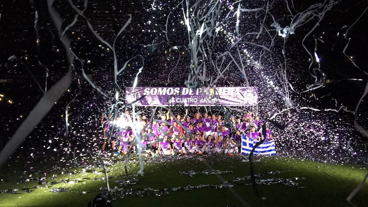 El Valladolid logró en la 17/18 un ascenso tan inesperado como histórico. DA