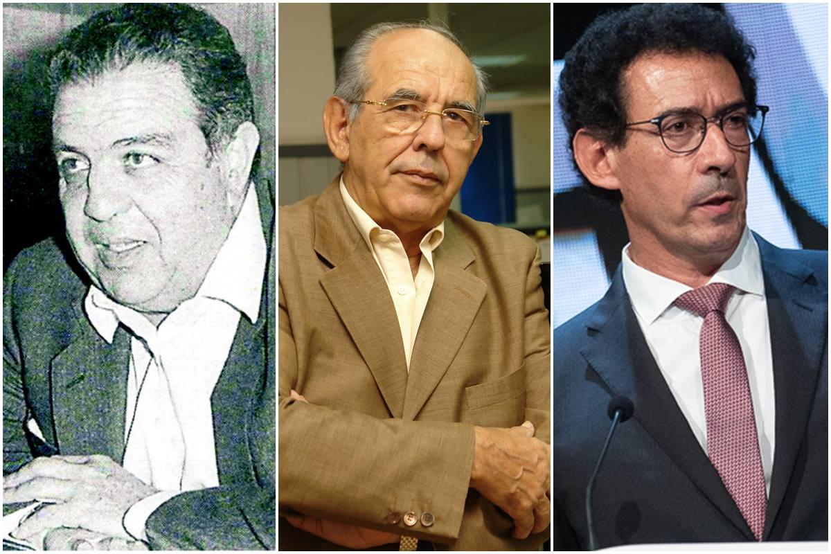 Pedro Modesto Campos, Elías Bacallado y Lucas Fernández. DA