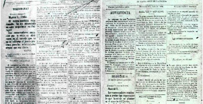 DIARIO DE AVISOS, el decano de la prensa de Canarias, cumple hoy 130 años