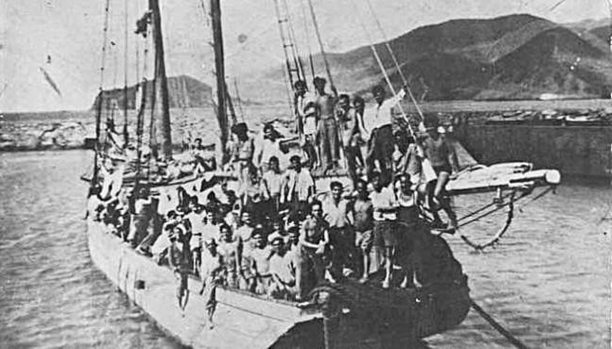 Imagen del barco Telémaco con 171 canarios a bordo. EP