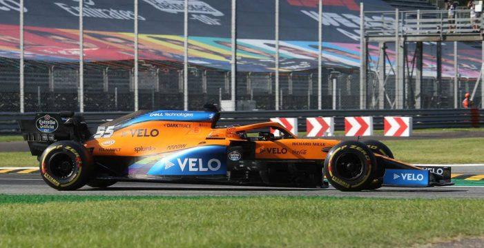 Sainz roza el triunfo en Monza con una histórica segunda posición