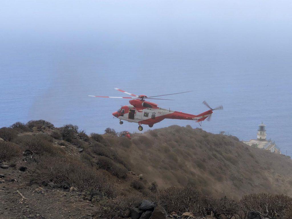 Helicóptero del GES. 112 Canarias