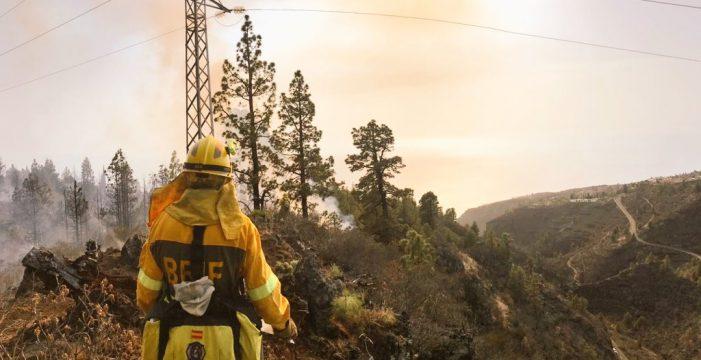 Un incendio de nivel 2 en Tijarafe activa las alarmas en el noroeste