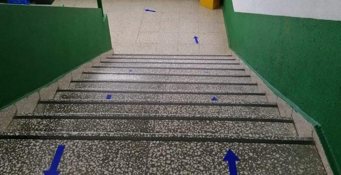 Seguridad para regresar a las aulas en Aridane
