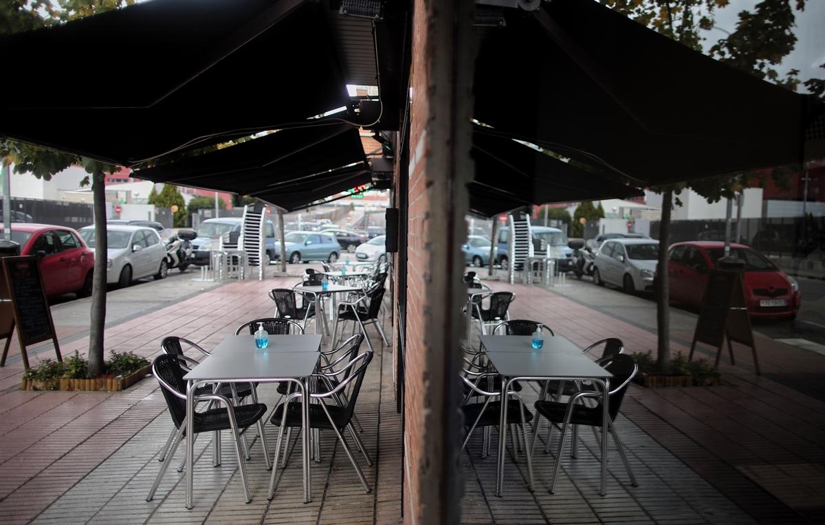 Terrazas de bares vacías durante la pandemia EUROPA PRESS