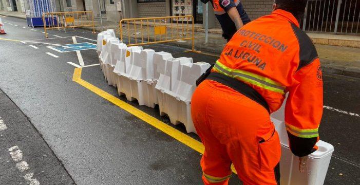La lluvia y el viento dejan varias incidencias en La Laguna