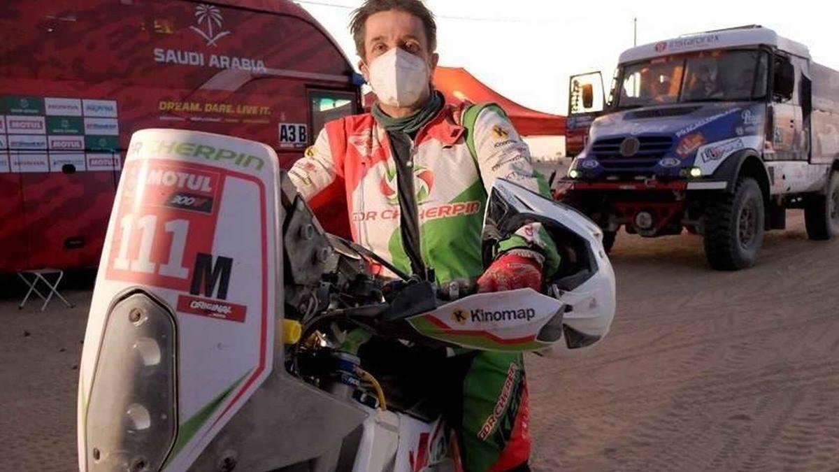 Pierre Cherpin, piloto de motos en el Rally Dakar 2021