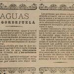 En este curioso anuncio del año 1905, la empresa Aguas de Gordejuela ofrecía sus servicios a los dueños de fincas del Valle. El precio era 100 pesetas el día de agua y 25 el cuarto de día.