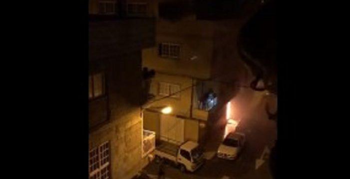 Un incendio sorprende a los vecinos de El Fraile