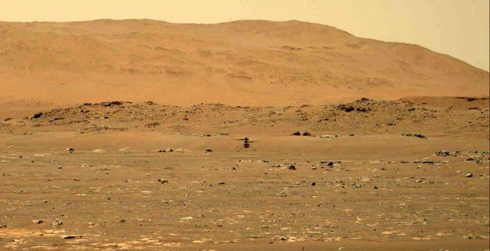 Hito histórico de la NASA: el helicóptero Ingenuity vuela con éxito en Marte