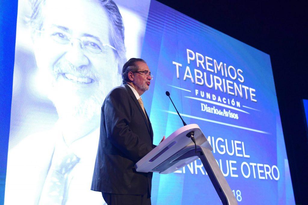 Miguel Henrique Otero, Premio Taburiente de 2018. / SERGIO MÉNDEZ