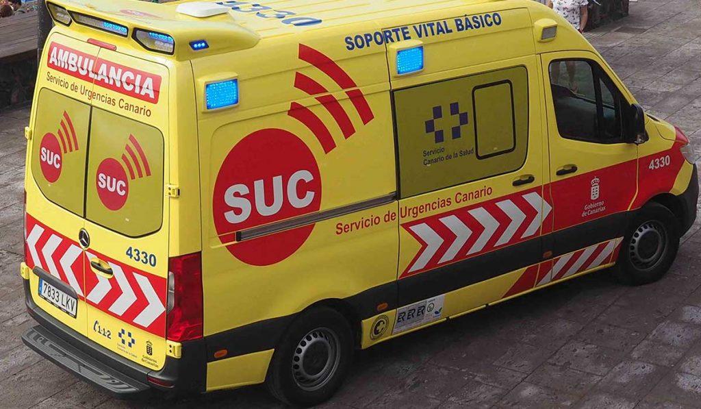 Ambulancia del Servicio de Urgencias Canario (SUC). | Sergio Méndez
