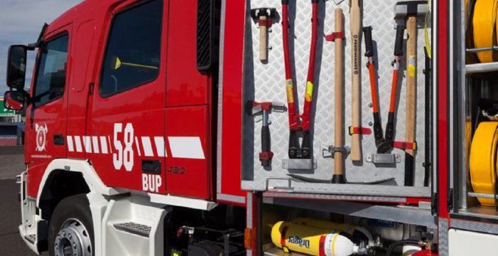 Herida en el incendio en una vivienda en La Laguna