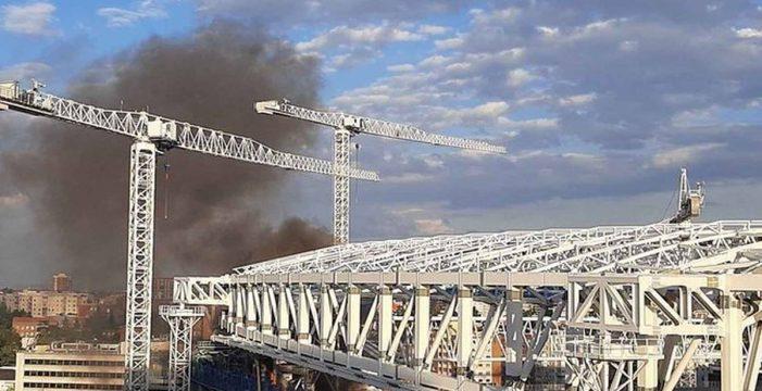 Incendio en el Santiago Bernabéu