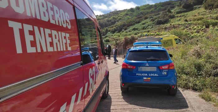 Acuden al rescate de un joven que quedó atrapado tras un derrumbe en una finca en La Orotava
