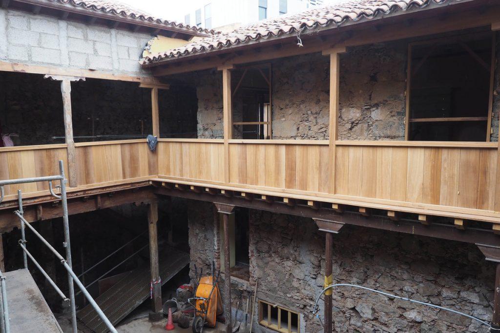 Vista de las obras en la actualidad desde la galería de la segunda planta. S.M.