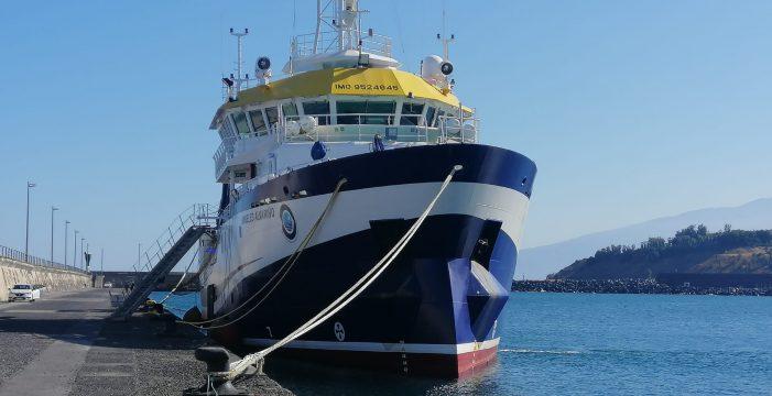Primeras imágenes del buque que se sumará a la búsqueda de las niñas en Tenerife
