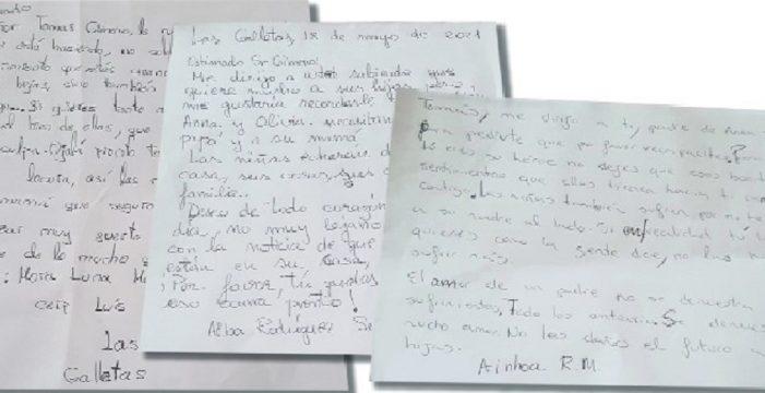 """Niños de un colegio de Arona escriben cartas a Tomás Gimeno: """"Sabemos que eres un buen padre y que jamás harás nada malo"""""""