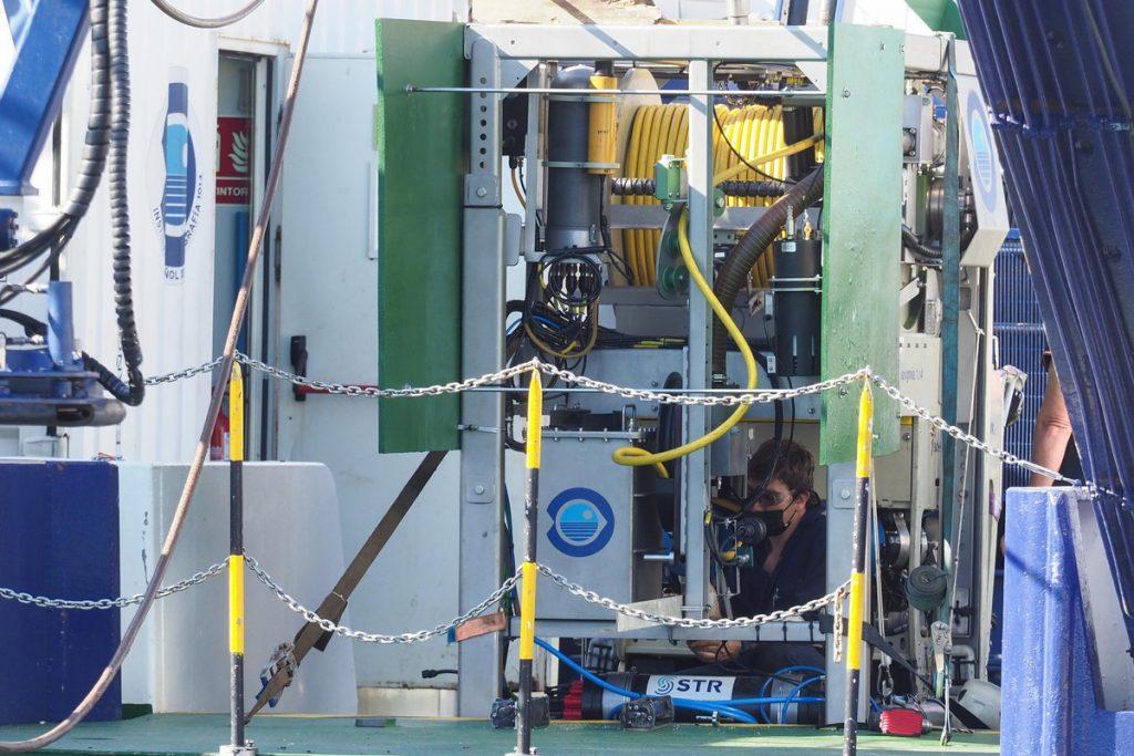 Robot del busque oceanográfico Ángeles Alvariño. SERGIO MÉNDEZ