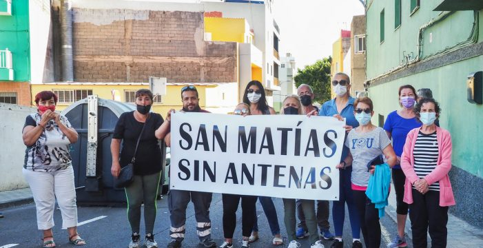 Vecinos de San Matías exigen que se retire ya una antena de telefonía móvil