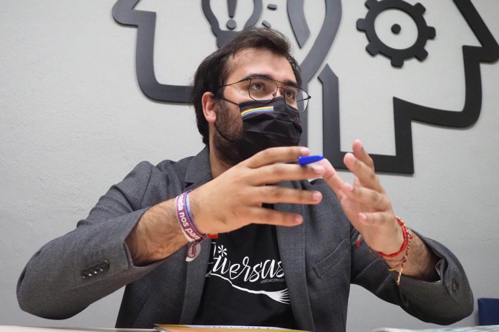 El presidente de Diversas, Sergio Siverio, en una entrevista con Diario de Avisos. | Sergio Méndez