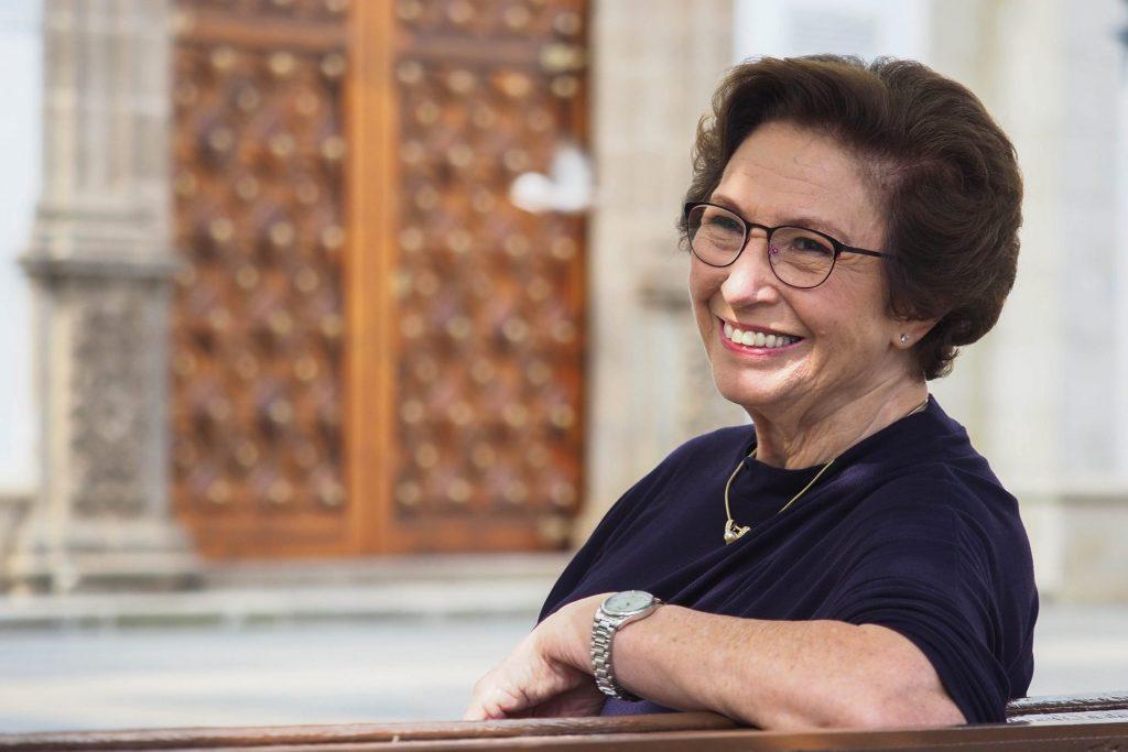 """Paloma Blanco no aparenta los 82 años que tiene, dice que la genética ayuda, pero también el haber tenido una vida """"muy satisfactoria""""."""