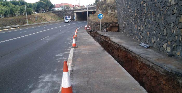 El Cabildo inicia la obra para evitar que el túnel de la Vía de Ronda se inunde