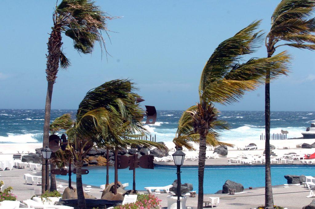 Viento en el Puerto de La Cruz en una fotografía de archivo. DA