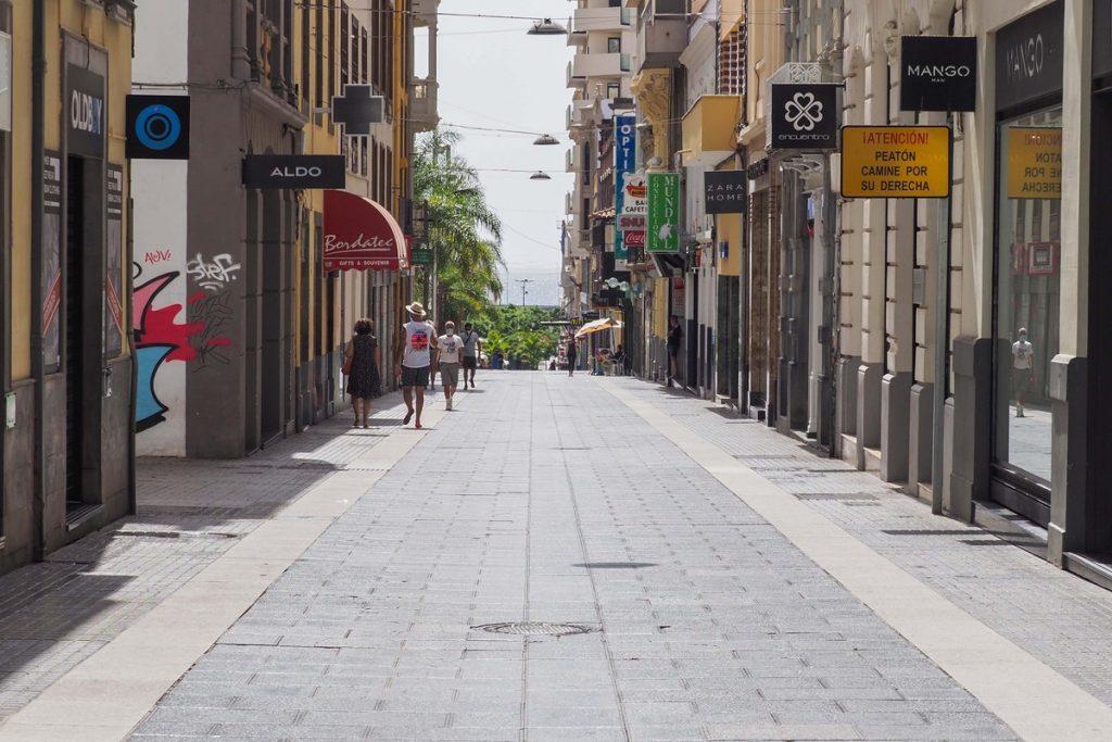 Vista de la calle Castillo, en Santa Cruz de Tenerife