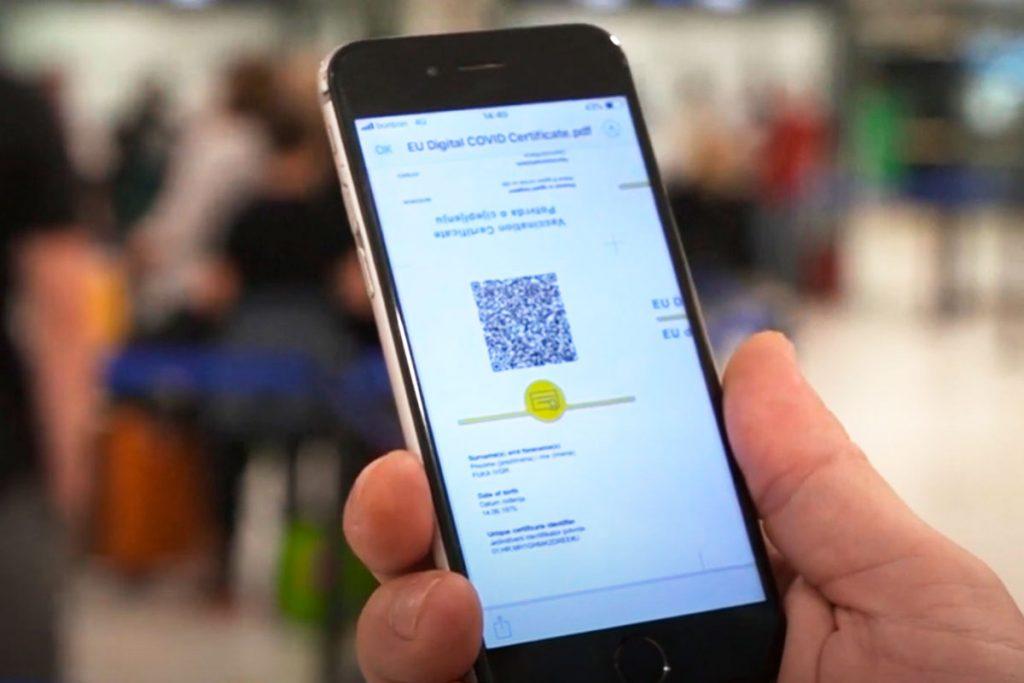 Certificado COVID europeo en el móvil