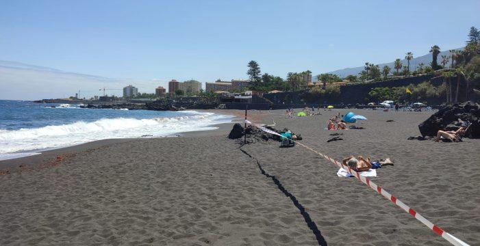 Cierre de las playas de Punta Brava y el Castillo en Puerto de la Cruz