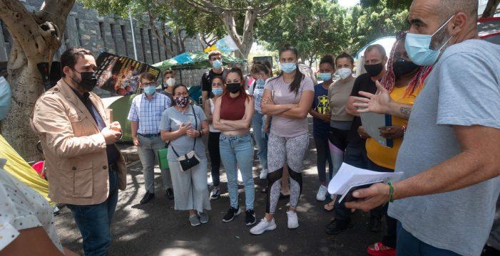 La acampada antidesahucios se muda en agosto a la Plaza de la Candelaria