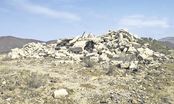Arona recoge 1.335 kilos de basuras en el entorno de un paraje protegido