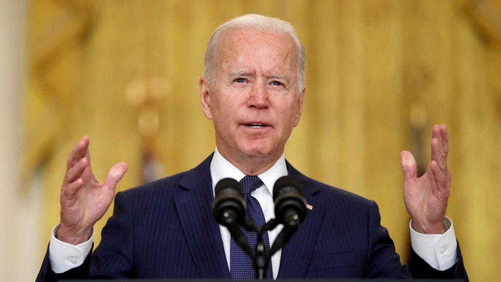Joe Biden, presidente de Estados Unidos, durante su comparecencia ante los medios en la Casa Blanca. Reuters