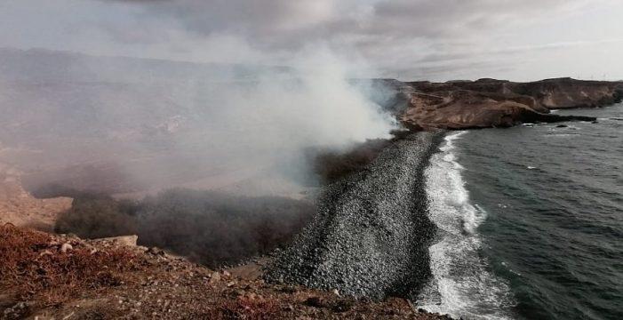 Logran controlar el incendio declarado hoy en Granadilla