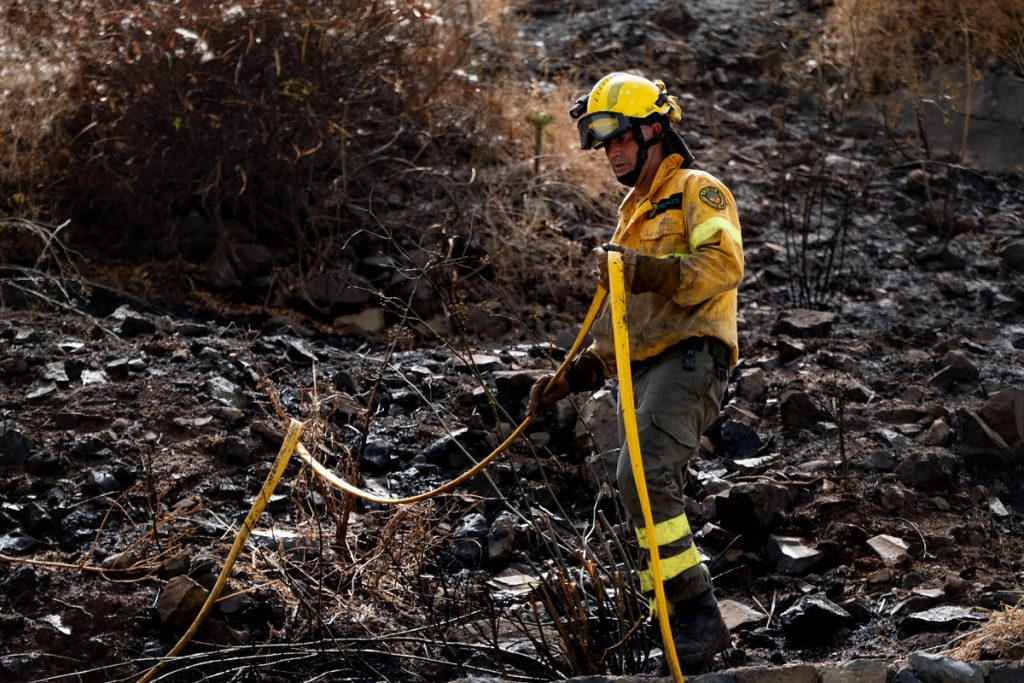 Incendio en Los Campitos. FRAN PALLERO