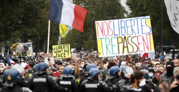 Las protestas contra el Certificado COVID en Francia suman seis semanas consecutivas