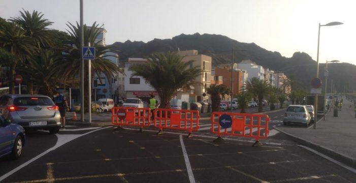 Cerrada al tráfico la avenida de San Andrés por el rodaje de una película