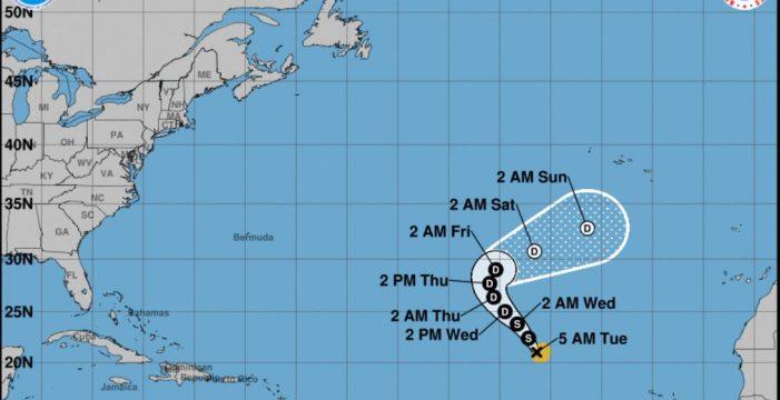 La tormenta tropical Rose podría llegar a Canarias