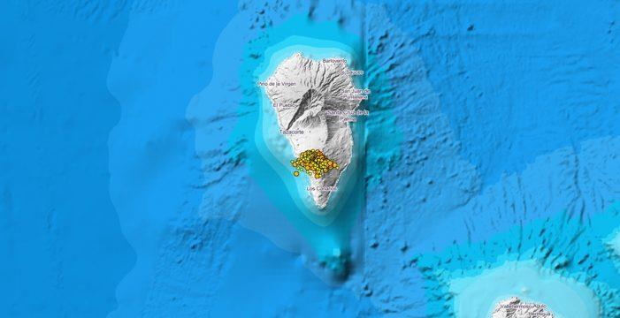 Más de 70 terremotos durante la noche en La Palma, uno de magnitud 3,1